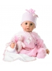Cookie blue eyes in pink pajamas with teddy sleeping set