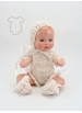 Mini Juanín Baby Off White cotton knitted suit with dress