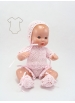 Mini Juanín Baby pink cotton knitted suit with dress
