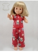 Little bears printed red pyjama