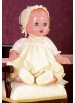Juanín Baby with beige organdy romper and beguin suit
