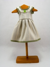Striped dress with green edges