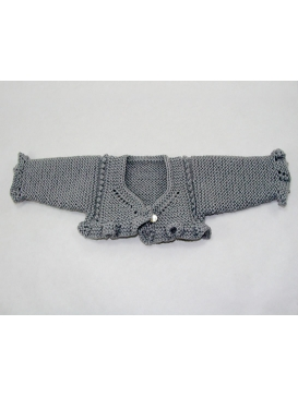 Carolina Miel de Abeja grey knitted cardigan