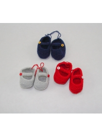 Carolina Miel de Abeja navy knitted slippers