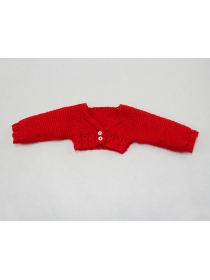 17.7inch/45cm dolls red knitted cardigan