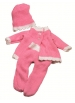 Pink and white knitted suit for Muffin and Aquini