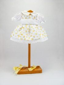 Cuco yellow tiny flower print dress