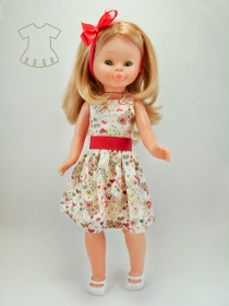 Flowers and Hearts print summer dress