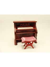Upright Piano with bench 1:12