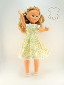 Tiny yellow flowers summer dress