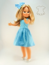 Polka Dot sky blue summer dress