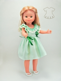 Pale green dress with edges