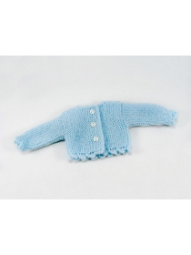 Old Nancy and Pepa sky blue knitted cardigan