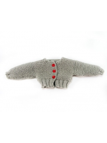 Old Nancy and Pepa grey knitted cardigan